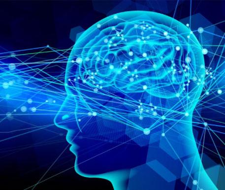AIをイメージした人間の脳